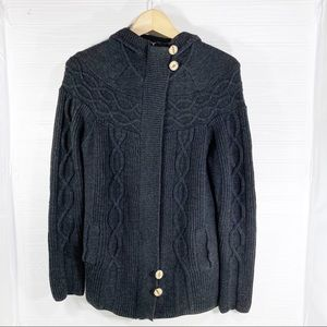 Smartwool Merino Wool Zip Button Cardigan Cables